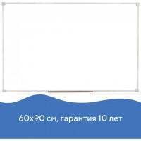 Доска магнитно-маркерная 60х90 см, ПВХ рамка, ГАРАНТИЯ 10 ЛЕТ, РОССИЯ, STAFF, 236158