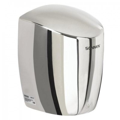 Сушилка для рук SONNEN HD-777, 1200 Вт, нержавеющая сталь, антивандальная, хром, 604748