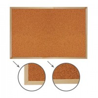 Доска пробковая для объявлений 60х90 см, деревянная рамка, ГАРАНТИЯ 10 ЛЕТ, РОССИЯ, BRAUBERG, 236860