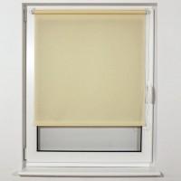 Штора рулонная BRABIX 80х175 см, текстура - лён, защита 55-85%, 200 г/м2, кремовый S-21, 605993