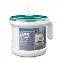 Диспенсер для полотенец переносной, TORK (Система M4) Reflex, стартовый набор с полотенцем, белый, 473186