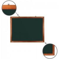 Доска для мела магнитная 60х90 см, зеленая, деревянная окрашенная рамка, Россия, BRAUBERG, 236890