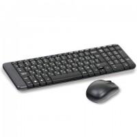 Набор беспроводной LOGITECH Wireless Desktop MK220, клавиатура, мышь 2 кнопки + 1 колесо-кнопка, черный, 920-003169