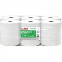 Полотенца бумажные рулонные 200 м, LAIMA (Система H1) ADVANCED, 1-слойные, белые, КОМПЛЕКТ 6 рулонов, 112503