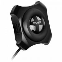 Хаб SVEN HB-432, USB 2.0, 4 порта, кабель 0,45 м, черный, SV-017330