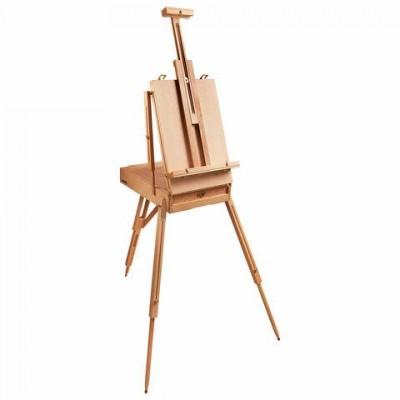 Этюдник BRAUBERG ART CLASSIC, бук, 50х34х11см, высота холста 87см, ножки дерев 90см, ремень, 190654