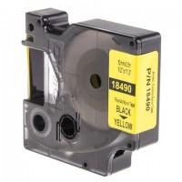 Картридж для принтеров этикеток DYMO Rhino, 12 мм х 3,5 м, лента нейлоновая, чёрный шрифт, неровная поверхность, желтая, 18490