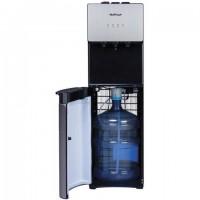 Кулер для воды HOT FROST V400AS, напольный, НАГРЕВ/ОХЛАЖДЕНИЕ КОМПРЕССОРНОЕ, 3 крана, серебристый/черный, 120140001