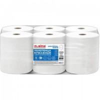Полотенца бумажные с центральной вытяжкой 300 м, LAIMA (Система M2) UNIVERSAL WHITE, 1-слойные, белые, КОМПЛЕКТ 6 рулонов, 112506