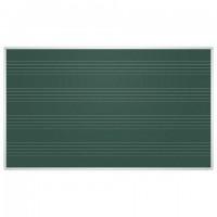 Доска для мела магнитная 85x100 см, зеленая, ПОД НОТЫ, алюминиевая рамка, 2х3 EDUCATION, (Польша), TKU8510P