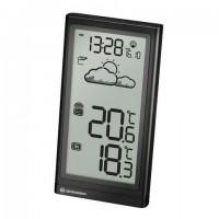 Метеостанция BRESSER Temp, термодатчик, часы, календарь, черный, 73262
