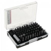 Набор бит, 61 предмет, MATRIX, магнитный адаптер, CrV, пластиковый бокс с клипсой подвесом, 11387