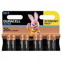 Батарейки КОМПЛЕКТ 8 шт., DURACELL Ultra Power, AA (LR06, 15А), алкалиновые, пальчиковые, блистер