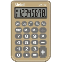 Карманный калькулятор Uniel UK-10BG