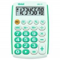 Карманный калькулятор Uniel UK-12 G
