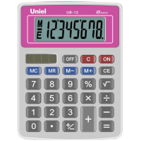 Настольный калькулятор Uniel UB-12 R