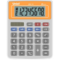 Настольный калькулятор Uniel UB-12 O