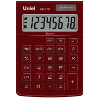 Настольный калькулятор Uniel UB-17 R