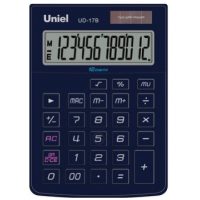Настольный калькулятор Uniel UD-17 B