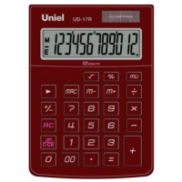 Настольный калькулятор Uniel UD-17 R