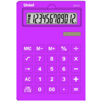 Настольный калькулятор Uniel UD-51 L