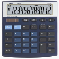 Настольный калькулятор Uniel UD-74 B