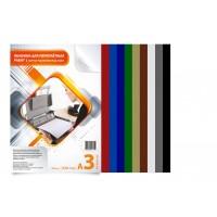 Обложка для переплета картон-кожа А3, красный, 230 г/м2, 100 шт