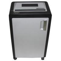 Уничтожитель бумаги (шредер) Bulros 8913M чёрный корпус/серебро дверца верх