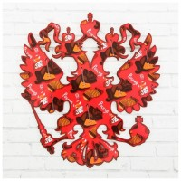 Герб настенный «Россия. Медведь», 22,5 х 25 см