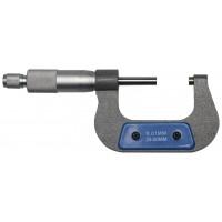 Микрометр ЗУБР Эксперт 25-50 мм (34480-50) серебристый/синий с поверкой