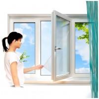 Москитная сетка на окно с крепёжной лентой на липучках Mosquito Netting 1,3х1,5м (Белая)