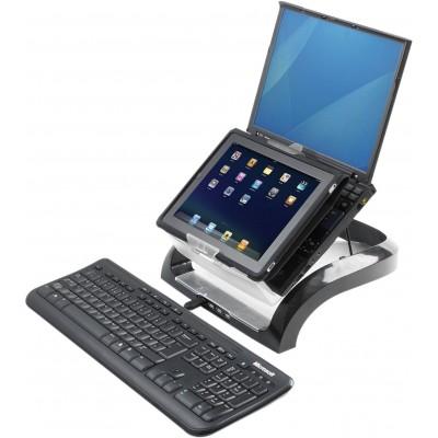 Fellowes® Рабочая станция для ноутбуков, планшетов и смартфонов, USB HUB x4, черная , шт