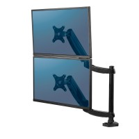 """Кронштейн для двух мониторов Fellowes Platinum Series, вертикальный, газлифт, до 27"""", до 9 кг каждый, шт"""