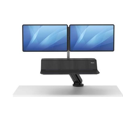 Платформа для работы сидя - стоя Fellowes Lotus RT Sit-Stand Workstation, черная, для 2 мониторов, шт
