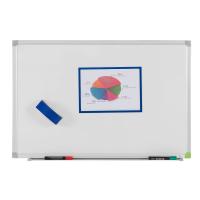 106 18 12 Белая эмалевая магнитно-маркерная доска Office Level, 1800 х 1200 мм