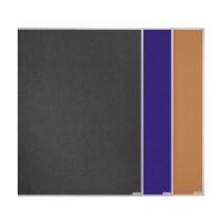 11 001 B03 Доска текстильная в системной раме, 900 х 600 мм, синяя