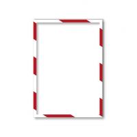 11 31 446 Магнитная слайд-рамка А4, для предупреждающих знаков, красно-белая, 5 шт/уп