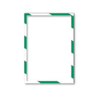 11 313 45 Магнитная слайд-рамка А3, для предупреждающих знаков, бело-зеленая, 5 шт/уп