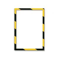 11 314 42 Магнитная слайд-рамка А4, для предупреждающих знаков, желто-черная, 5 шт/уп