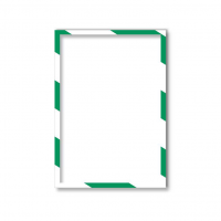 1131445 Магнитная слайд-рамка А4, для предупреждающих знаков, бело-зеленая, 5 шт/уп