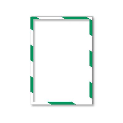 11 314 45 Магнитная слайд-рамка А4, для предупреждающих знаков, бело-зеленая, 5 шт/уп