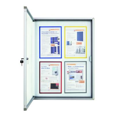12141 00 Доска-витрина для наружного использования, магнитно-маркерная Magnetoplan, 6 док-тов формата А4, 900 х 790 мм