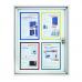 12143 00 Доска-витрина для наружного использования, магнитно-маркерная Magnetoplan, 12 док-тов формата А4,1150 х 1125 мм