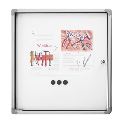 12 151 00 Доска-витрина интерьерная, магнитно-маркерная Magnetoplan, 6 документа формата А4, 870 х 750 мм