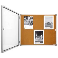 12 151 24 Доска-витрина интерьерная, пробковая Magnetoplan, 6 документов формата А4, 870 х 750 мм
