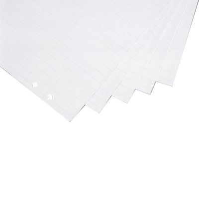 12 271 01 Бумага (блокнот) для флипчартов, 650 х 930 мм/в клетку/белый цвет/100 листов