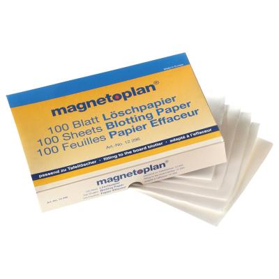 12 296 Салфетки сухие Magnetoplan для стирания маркерных записей, блок 100 листов