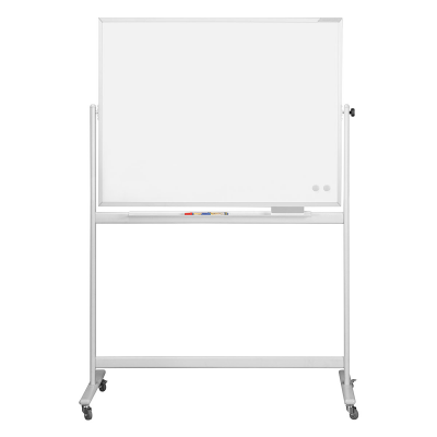 12 404 89 Мобильная белая вращающаяся доска с лаковым покрытием серии SP Magnetoplan, 1200 x 900 мм