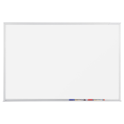 12 410 СС Белая эмалевая магнитно-маркерная доска серии СС Magnetoplan, 2400 х 1200 мм