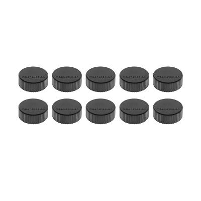 16 600 12 Магниты Magnetoplan Magnum, сила 2 кг, диаметр 34 мм, 10 шт, черные
